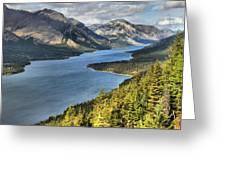 Upper Waterton Lake Valley Greeting Card