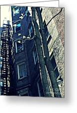 Upper West Side Apartment Building Greeting Card by Sarah Loft