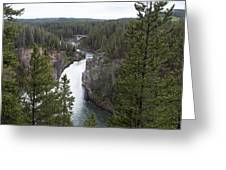 Upper Yellowstone Falls Greeting Card
