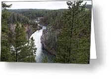 Upper Yellowstone Falls Greeting Card