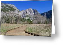 Upper Yosemite Fall And The Trail Greeting Card