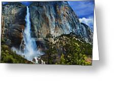 Upper Yosemite Falls Greeting Card