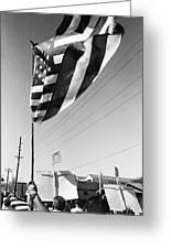 Upraised Flag Support Mlk Day March Tucson Arizona 1991 Greeting Card