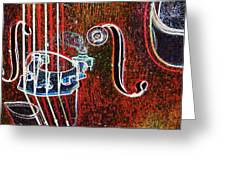 Upright Bass Close Up Greeting Card