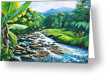 Upriver Greeting Card