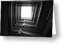 Upstairs- Black And White Photography By Linda Woods Greeting Card