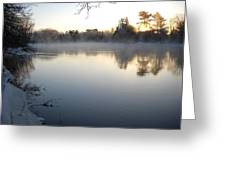 Upstream Mississippi River After Ice Out Greeting Card