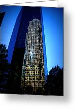 Uptown Reflection Greeting Card by Diane Payne