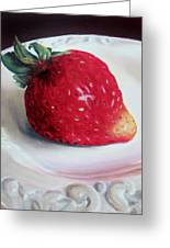 Uptown Strawberry Girl Greeting Card