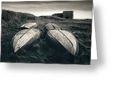 Upturned Boats Greeting Card