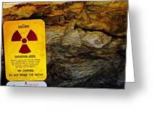 Uranium Mine In Capitol Reef Np Greeting Card