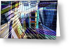 Urban Abstract 304 Greeting Card