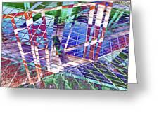 Urban Abstract 411 Greeting Card