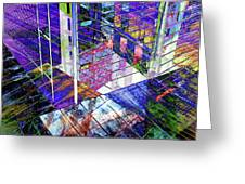 Urban Abstract 476 Greeting Card
