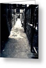 Urban Alley Greeting Card