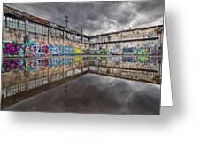 Urban Art Reflection Greeting Card