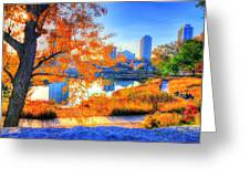 Urban Autumn Paradise Greeting Card
