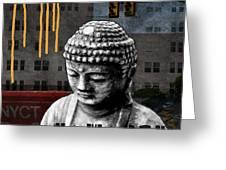 Urban Buddha  Greeting Card