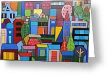 Urban Cityscape 1 Greeting Card
