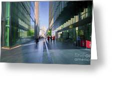 Urban Cityscape, London, Uk Greeting Card
