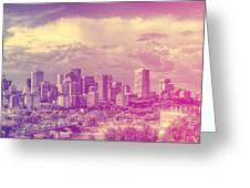 Urban Downtown Greeting Card