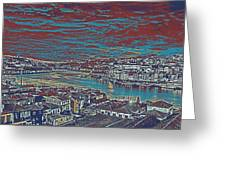 Urban Evening Greeting Card