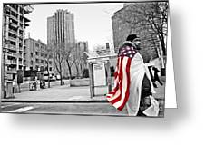 Urban Flag Man Greeting Card