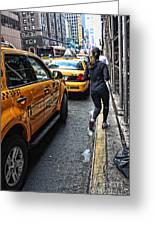 Urban Jogger Greeting Card