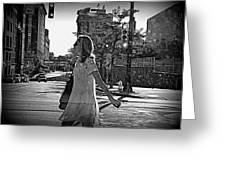 Urban Lady Greeting Card