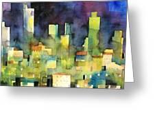 urban landscape 11 - le torri di San Gimignano Greeting Card