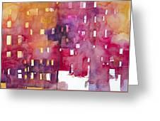 Urban Landscape 3 Greeting Card