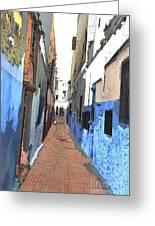 Urban Scene  Greeting Card