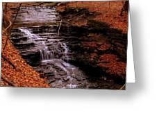 Urban Waterfall Greeting Card