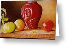 Urn An Apple Greeting Card