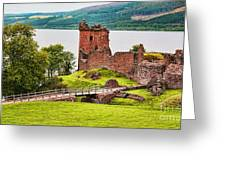 Urquhart  Castle Scotland Greeting Card