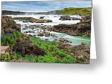 Urridafoss Waterfall And River Pjorsa In Iceland Greeting Card