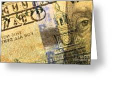 Us 100 Dollar Bill Security Features, 6 Greeting Card