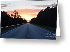 Us-41 To Miami  Greeting Card