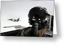 U.s. Air Force Pilot Takes Greeting Card