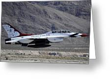 U.s. Air Force Thunderbird F-16 Greeting Card