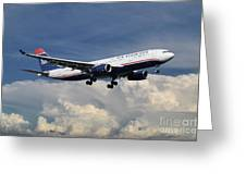 Us Airways A330-200 N280ay Greeting Card