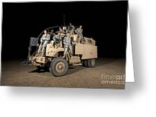 U.s. Army Medical Personnel Pose Greeting Card
