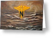 U.s. Army Nurse Corps Desert Storm Greeting Card by Marlyn Boyd