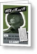 Vintage Us Army Recruiting Poster Greeting Card