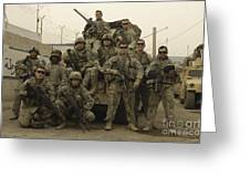 U.s. Army Soldiers Pose For A Photo Greeting Card