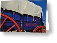 U S Army Supply Wagon Greeting Card