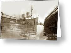 U.s. Army Transport Uss Mount Vernon 1917-1919 Greeting Card