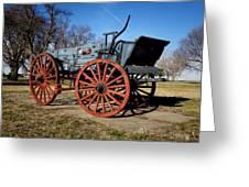 Us Buckboard Wagon Greeting Card