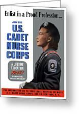 Us Cadet Nurse Corps - Ww2 Greeting Card