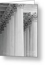 United States Capital Columns Greeting Card
